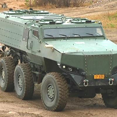 Protolabs prototyp av Misun testkörs i en sandgrop i Horsbäck.
