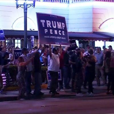 Trumpanhängare i Miami