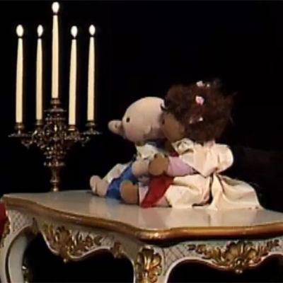 Susanna Palin med Lilla O och Molly, 1988