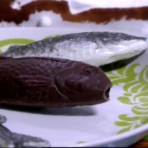 Gjuten chokladfisk