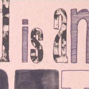 Camillas plansch med Picasso-citat.