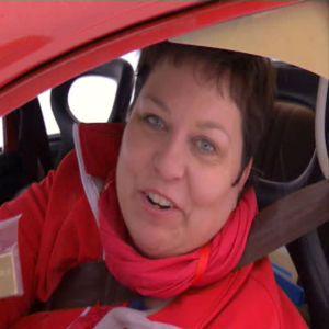 Elisabeth belönades för sin insats i rallyt.