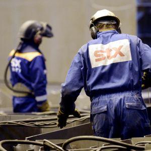Anställda vid STX-varvet i Raumo
