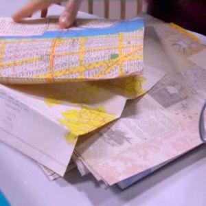 Dekorera med gamla kartor och tidningar