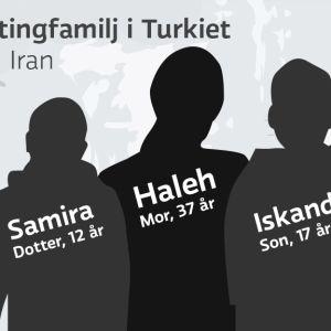Kvotflyktingfamilj i Turkiet
