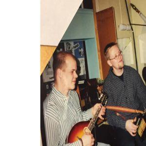 Soittajia Alavuden nuorisoseuralla. Kuvassa Juhani Lautamaja (basso), Antti Paalanen ja Heikki Korkeakoski (mahdoliini).