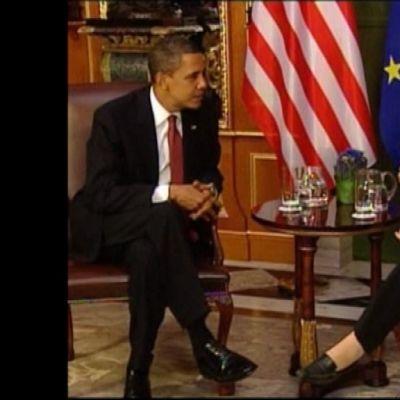 Obama och Merkel i möte