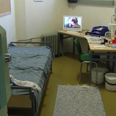 Fängelsecell utan wc