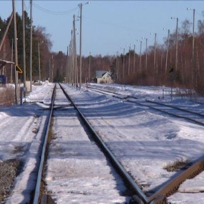 järnvägsräls i kaskö