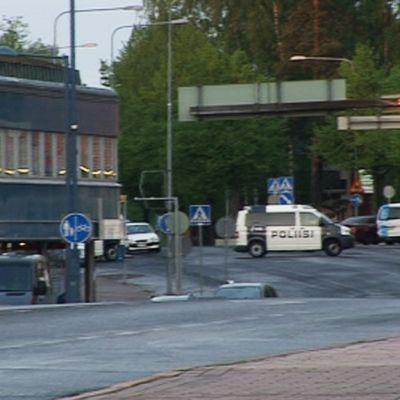 Polisen på plats i Hyvinge