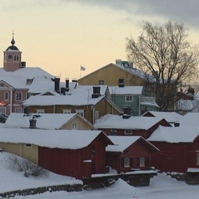Gamla stan i Borgå inför jul