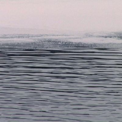 Öppet vatten mot iskant