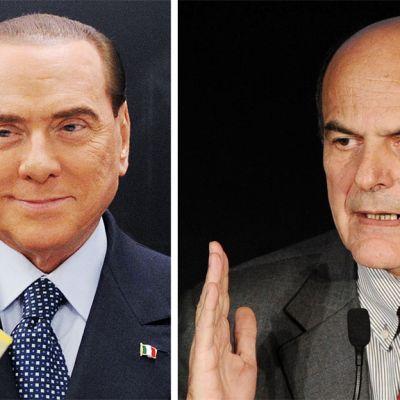 Silvio Berlusconi och Pier Luigi Bersani