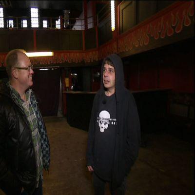 Peter Lüttge och Peter Rosvik i gamla Club 25 i Vasa.