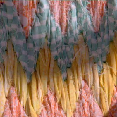 Florentiskt broderi av mattrasor