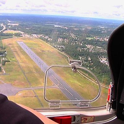 Ilmakuvassa Lappeenrannan lentokenttä