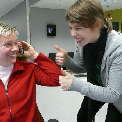 Riikka Pennanen ja Jenni Frilander.