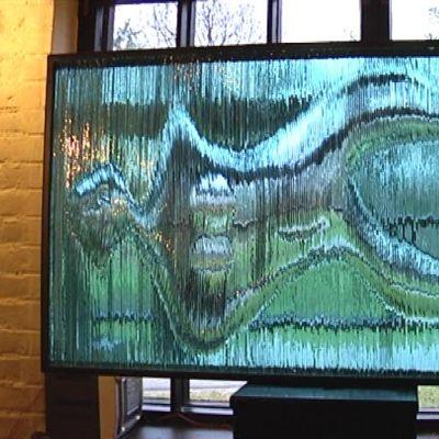 Lasiteos Suomen Lasimuseossa Riihimäellä