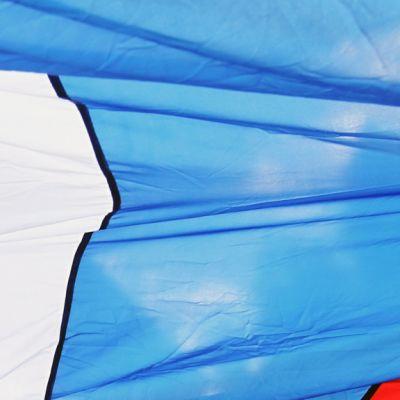 Yksityiskohta Venäjän lipusta.