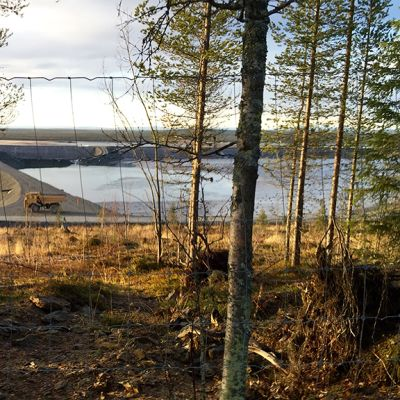 Kaivosyhtiö Agnico Eaglen Kittilän kultakaivoksen vesivarastoaltaat