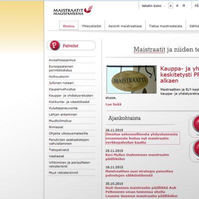 Maistraatti.fi-verkkosivu