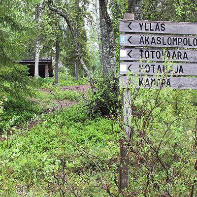 puinen viitta kyltti kansallispuisto Pallas-Yllästunturi