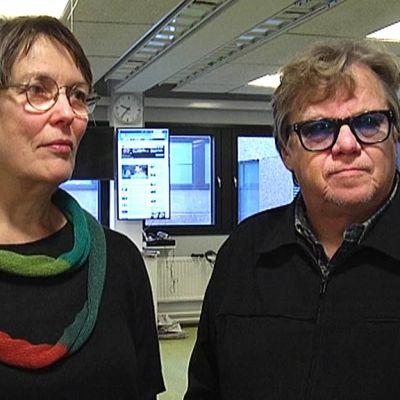 Kansanedustajat Satu Hassi ja Mikko Alatalo