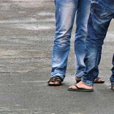 turvapaikanhakijoita Hiukkavaarassa