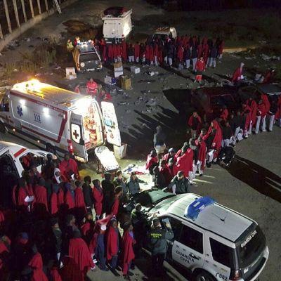 Espanjan Punainen risti hoiti 185:aa siirtolaista, jotka onnistuivat pääsemään Espanjalle kuuluvaan Ceutaan.