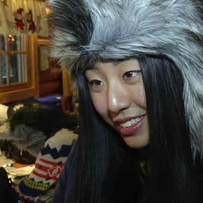 Kiinalainen matkailija Napapiirillä