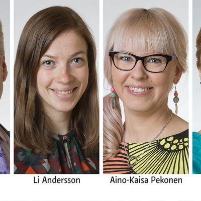 Jari Myllykoski, Li Andersson, Aino-Kaisa Pekonen, Hanna Sarkkinen