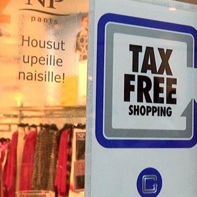 Tax free -kyltti.