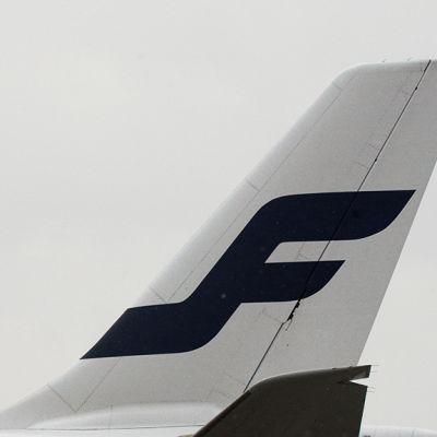 Lentokoneen peräsiipi.