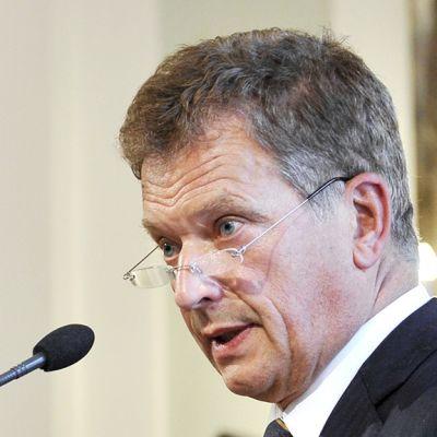 Tasavallan presidentti Sauli Niinistö puhuu Eotvos Lorandin yliopistossa Budapestissa 4. syyskuuta 2012.