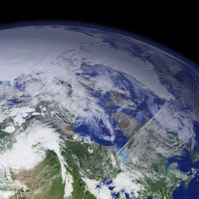 Maapallo avaruudesta kuvattuna.