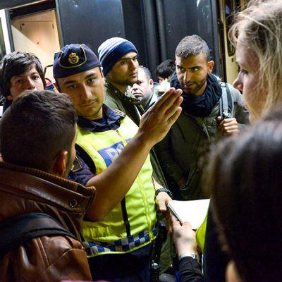 Turvapaikanhakijoita Tukholmassa