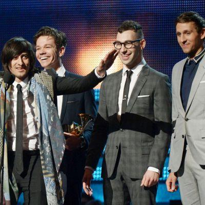 Fun-yhtye Grammy-palkintojen jakotilaisuudessa Los Angelesissa.