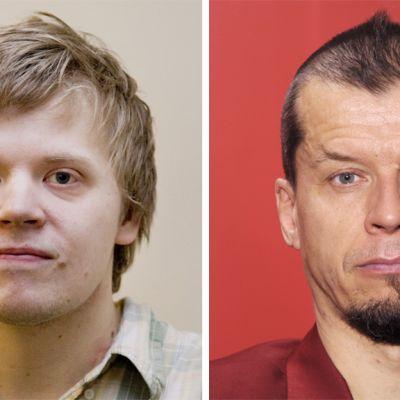 Viulisti Pekka Kuusisto ja hanuristi Kimmo Pohjonen.