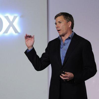 Mozillan toimitusjohtaja Gary Kovacs esitteli uutta älypuhelimiin kehitettyä Firefox-käyttöjärjestelmää lehdistölle Barcelonassa 24. helmikuuta 2013.