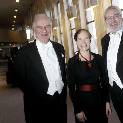 Fred Karlsson, Päivi Rissanen ja Jaakko Ryhänen