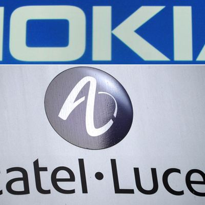 Nokian ja Alcatel Lucent logot.