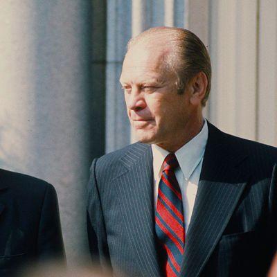 Pääsihteeri Leonid Brezhnev ja presidentti Gerald Ford