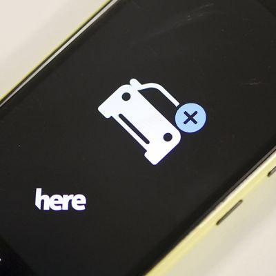 Nokian Here-karttasovellus Nokian laitteessa.