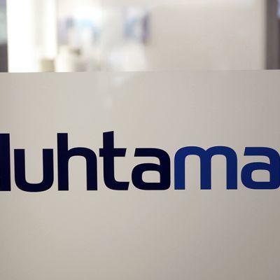Huhtamäen logo yhtiön pääkonttorissa Espoossa.