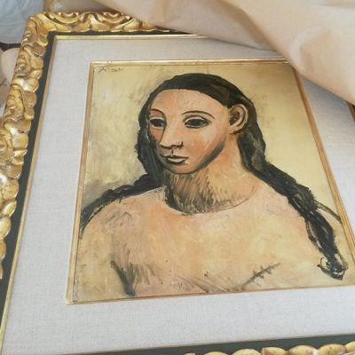 Takavarikoitu Pablo Picasson maalaus.