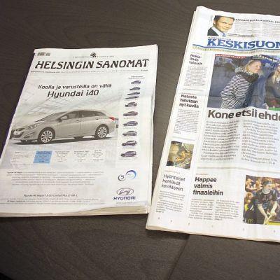 Isoista sanomalehdistä Helsingin Sanomat ehti ensin tabloidikokoon. Ensi keväänä on vuorossa Keskisuomalainen.