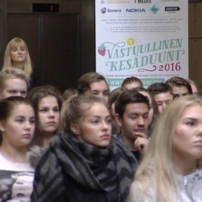 Töitä nuorille kampanja Rovaniemi maaliskuu 2016