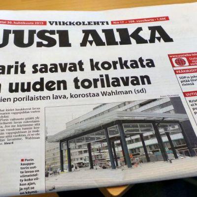 Porissa ilmestyvä SDP:n äänenkannattaja Uusi Aika.