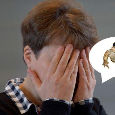 Kun sammakko loikkaa suusta, saattaa hävettää.