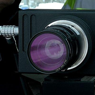 Poliisin uuden valvonta-auton kamera kuvattuna helmikuussa 2015.